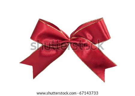 Isolated Red heart ribbon