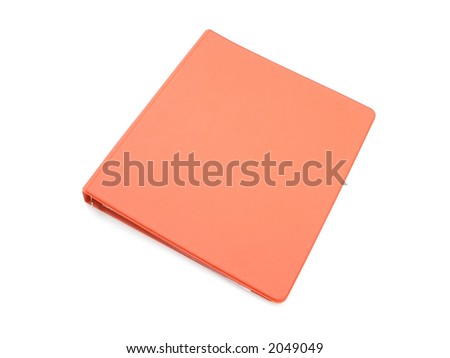 Isolated Red/Orange Binder - stock photo