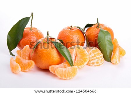 isolated ripe clementine
