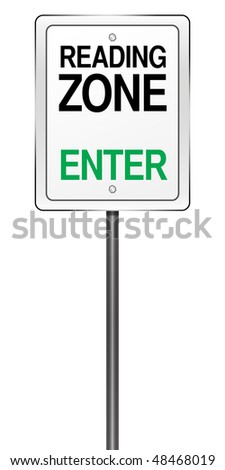 Isolated Road Sign Metaphor for Teaching Environments - stock photo