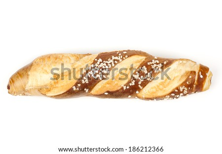 Isolated roll bread - Laugenstangerl