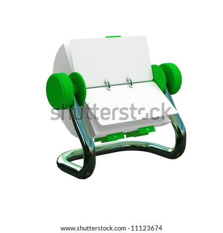 isolated rotary number card - stock photo