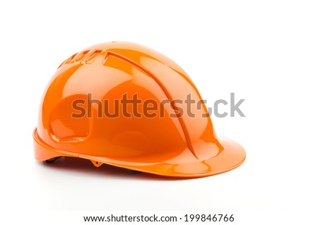 Isolated safety helmet hat - stock photo