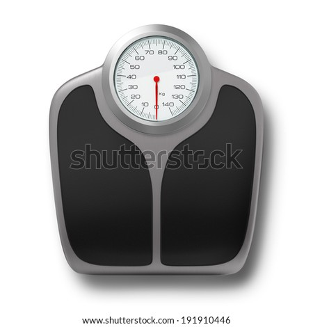 Isolated scale  - stock photo