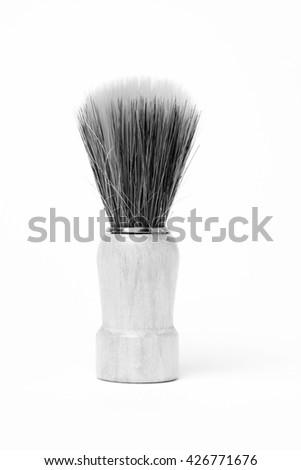 Isolated Shaving Brush - stock photo