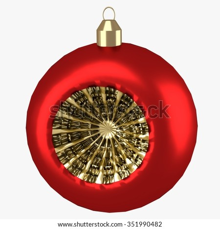 isolated shiny christmas tree decoration 3d render - stock photo