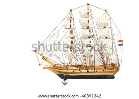 Isolated ship - stock photo