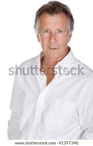 Isolated Shot of a Handsome Senior Male