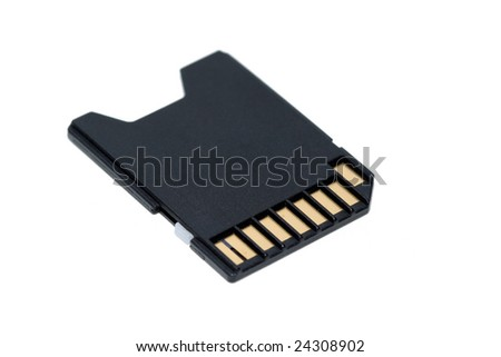 isolated shot of a sd memory card
