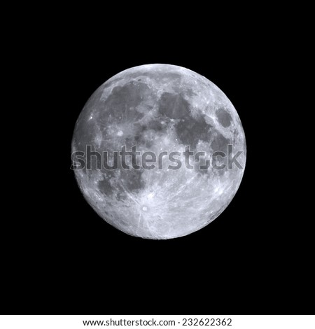 Isolated shot of a summers full moon - stock photo