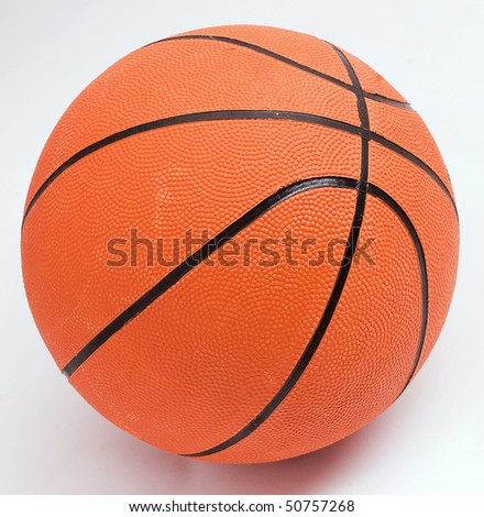 Isolated shot of basketball on a white background