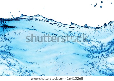 Isolated shot of water splashing - stock photo