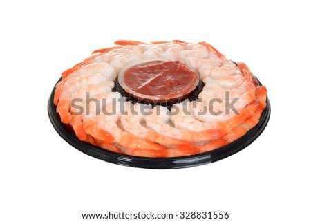 isolated shrimp ring - stock photo