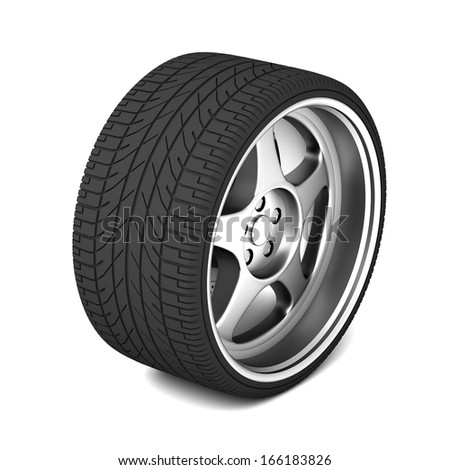 isolated sigle car tire
