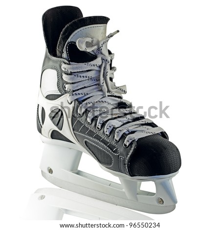 Isolated Skates (with clipping patch) - stock photo