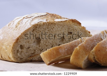 isolated sliced white bread