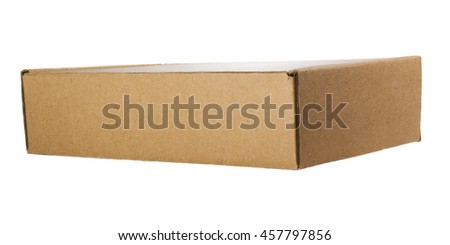 Isolated small cardboard box rectangular form