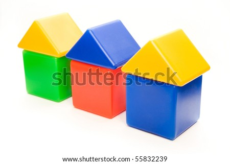 isolated small house series on white background