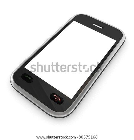 Isolated smart phone - stock photo