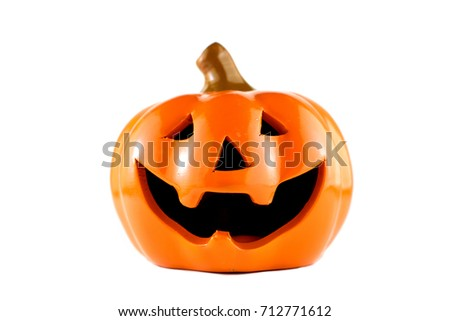 isolated smile pumpkin for Halloween festival