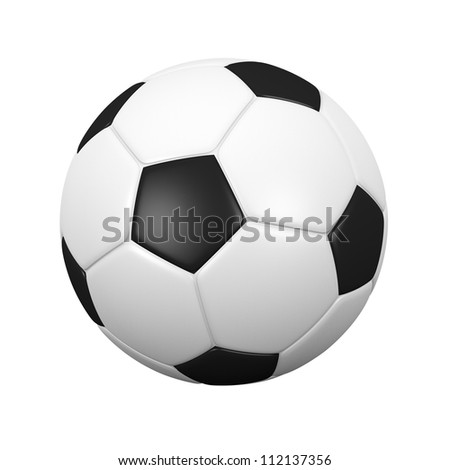 isolated soccer ball with clipping path. - stock photo