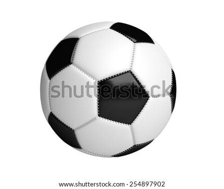 Isolated Soccer  Ball with white background - stock photo