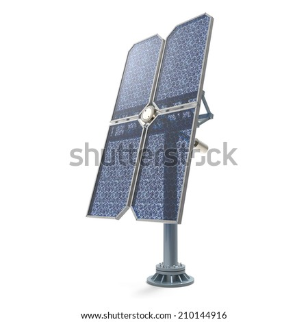 Isolated solar panel on white background