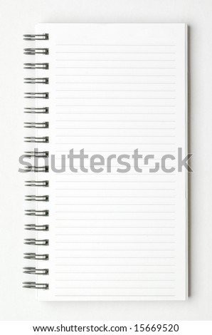 isolated spiral notepad - stock photo