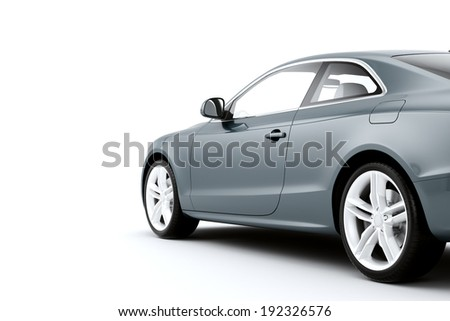 Isolated sport car on a white background - stock photo