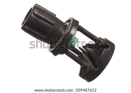 Isolated Sprinkler Pipe Adapter, spray heads, studio shot  - stock photo