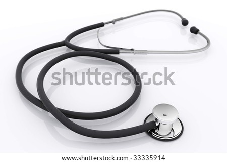 Isolated Stethoscope - stock photo