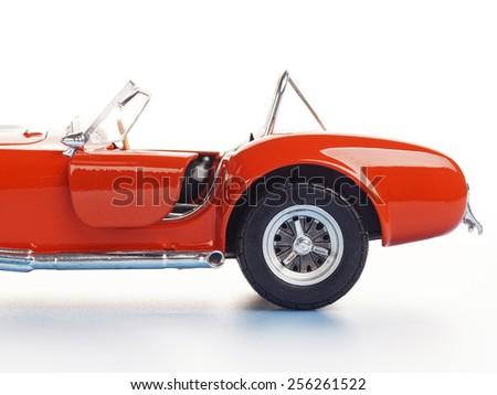 isolated super car model - stock photo