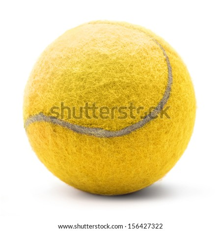 Isolated tennis ball on a white background - stock photo