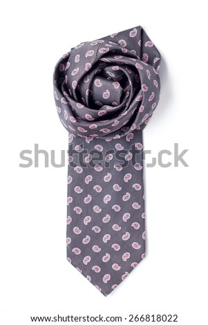 isolated tie folded flower - stock photo