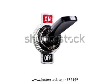Isolated Toggle Switch - stock photo