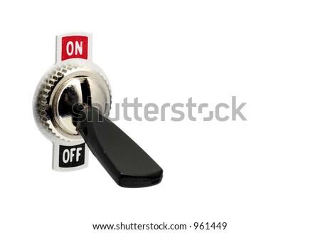 Isolated Toggle Switch - stock photo