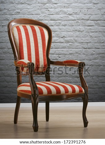 isolated vintage chair - stock photo