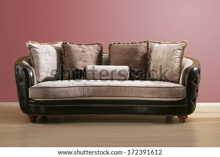 isolated vintage couch - stock photo