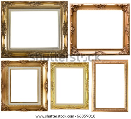 Isolated vintage photo frame - stock photo