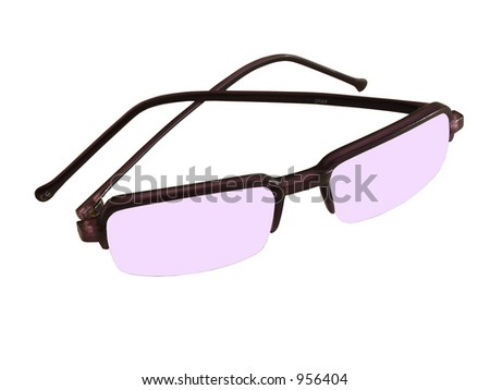 Isolated violet-purple sunglasses - stock photo