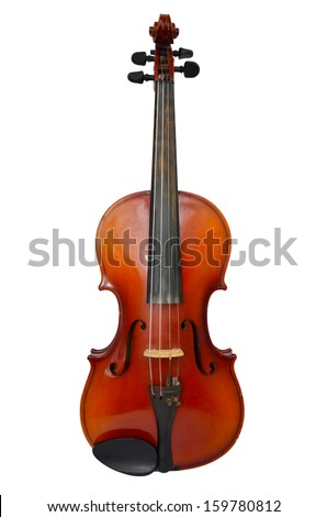 Isolated violin - stock photo