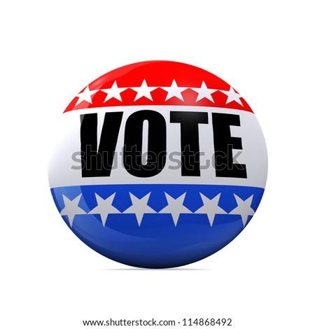 Isolated Vote Badge - stock photo