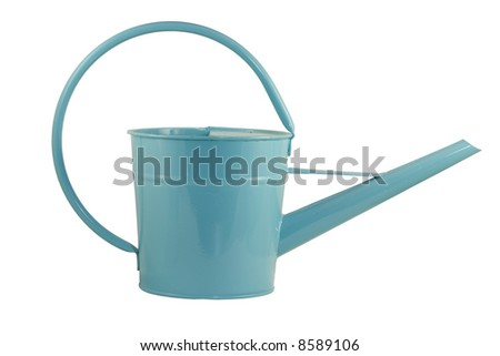 Isolated watering bucket - stock photo