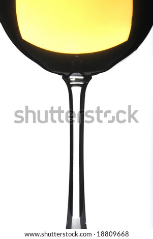 Isolated wine glass in white background