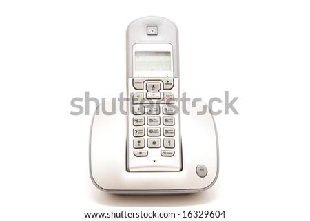 Isolated wireless phone - stock photo