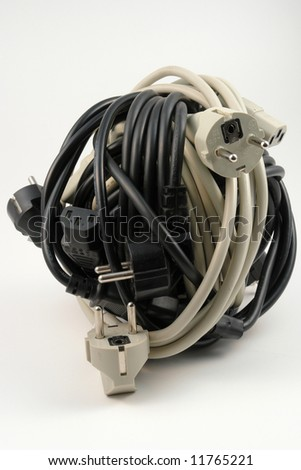 Isolated wires - stock photo