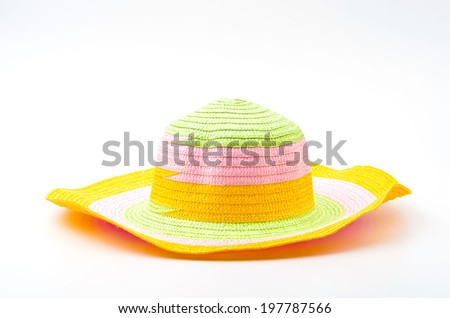 Isolated woman hats - stock photo