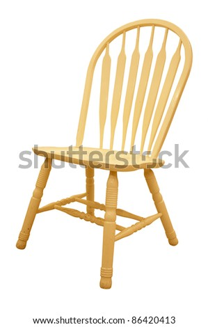 isolated wood chair as a living