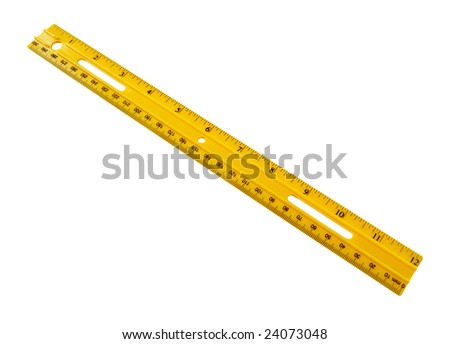 Isolated yellow ruler