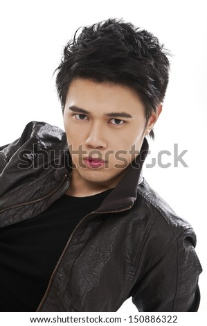 Isolated young casual man portrait,